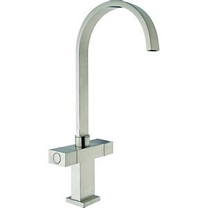 Wickes Kitchen Sinks Wickes Akola Mono Mixer Kitchen Sink Tap Brushed Finished Stainless Steel Wickes Co Uk