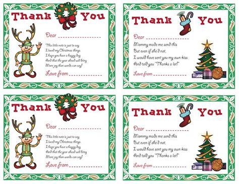 printable christmas thank you notes from teachers pin by tracy kinyon on christmas pinterest