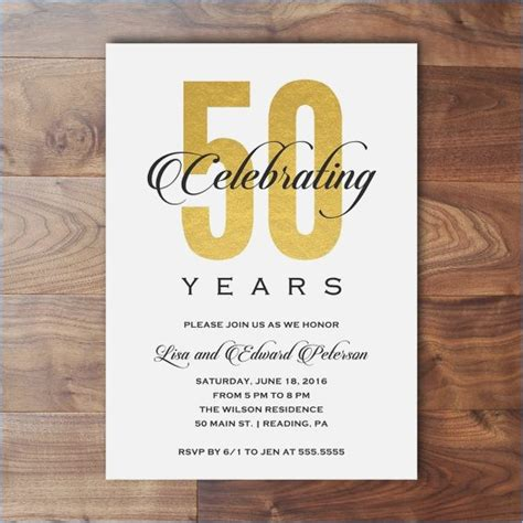 20th Wedding Anniversary Event Ideas by Invitation For 50th Anniversary Brandhawaii Co