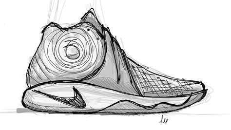 drawings of basketball shoes sneakers basketball shoe pencil and in color