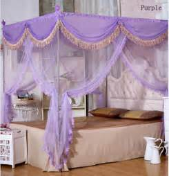 Canopy Bed Curtains Purple Purple Luxury 4 Post Bed Curtain Canopy Mosquito Net All