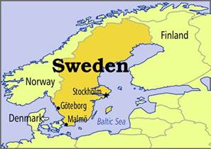Sweden World Map by Map Of Sweden In The World Sweden Map Geography