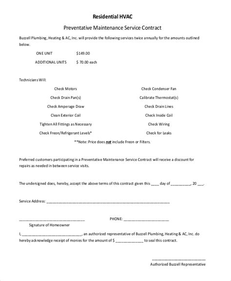 sle residential service contract 5 documents in pdf