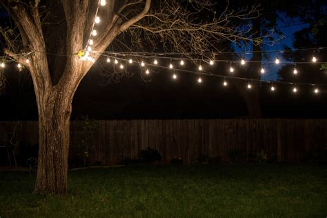 Outdoor String Lights House Ideals How To String Lights In Backyard