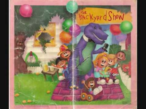barney backyard show video barney the backyard gang the backyard show cassette