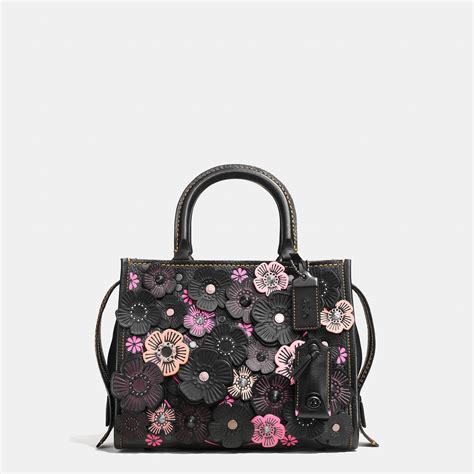Coach Rogue Tea 25 coach rogue 25 in pebble leather with tea applique in