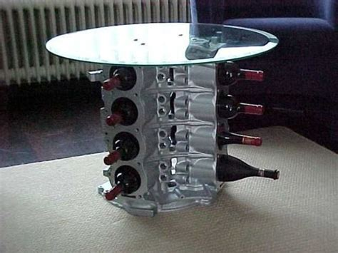 V8 Engine Block Coffee Table V8 Engine Coffee Table And Wine Rack Multipurpose Decorating This Would Appeal To Both