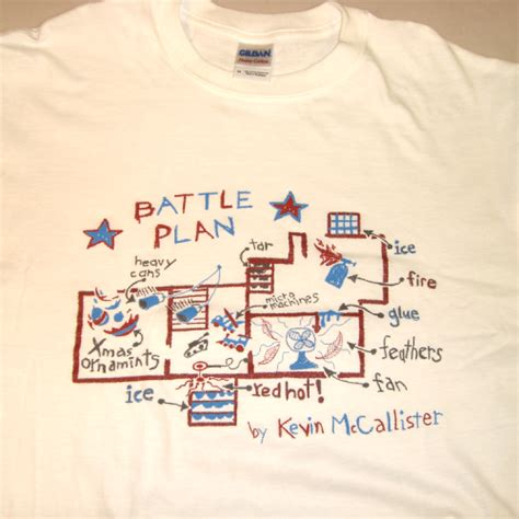 battle plan t shirt kevin mccallister home alone new