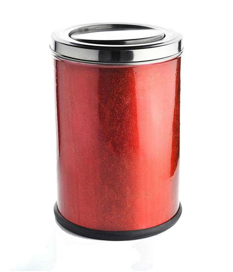 red swing bin hmsteels stainless steel swing bin dustbin red buy