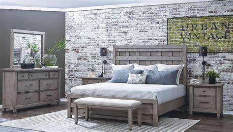 Bedroom Sets 400 by Prospect Hill Gray Pallet Panel Bedroom Set S082 250 51