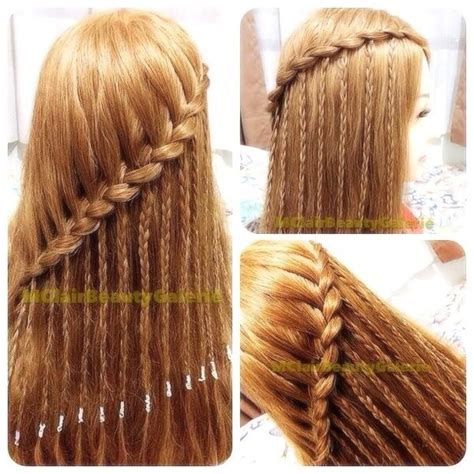 braids hairstyles on pinterest my hair journey waterfall braid with strands of braids