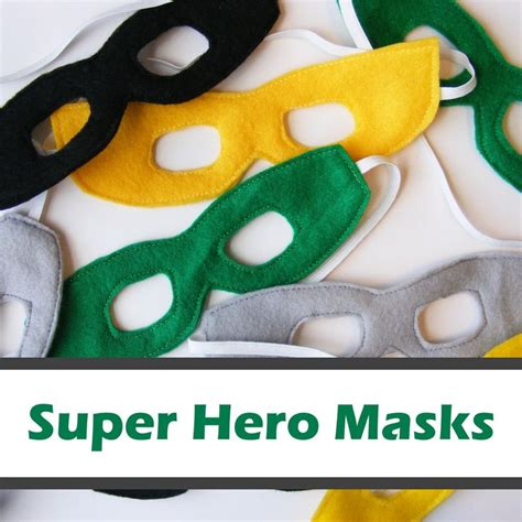 pattern for felt superhero mask super hero masks free pattern sewing diy kids and