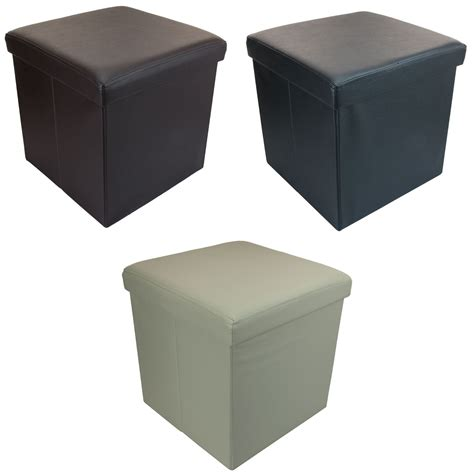 ottoman foot rest small ottoman folding storage box foot rest with lid 38 x