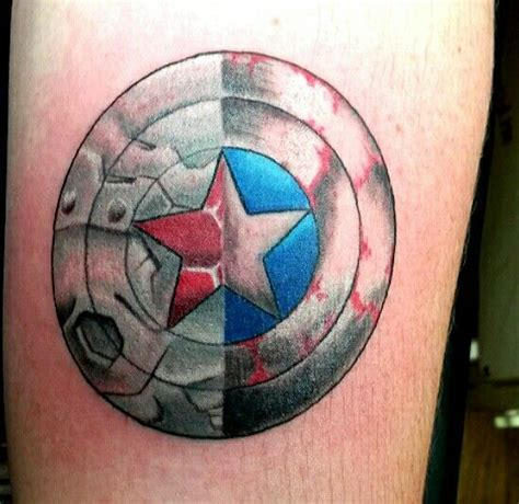 captain america shield tattoo best 25 captain america ideas on