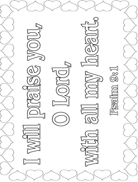 sunday school coloring pages with bible verses bible verse coloring pages psalm 9 1 memory verse
