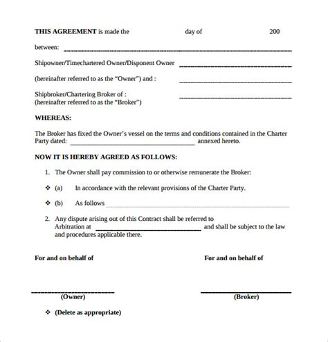 commission contract template    documents   word