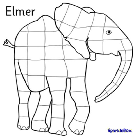 coloring page for elmer the elephant elmer teaching resources story sack printables sparklebox