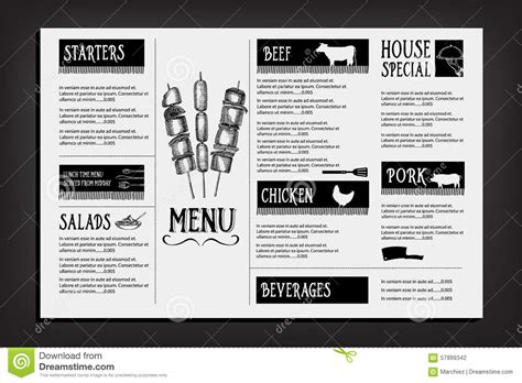 menu design graphic cafe menu restaurant brochure food design template stock