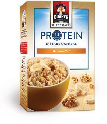 protein oatmeal quaker oats protein banana nut