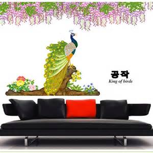 peacock wall sticker peacock bird wall sticker vinyl wall art stickers by