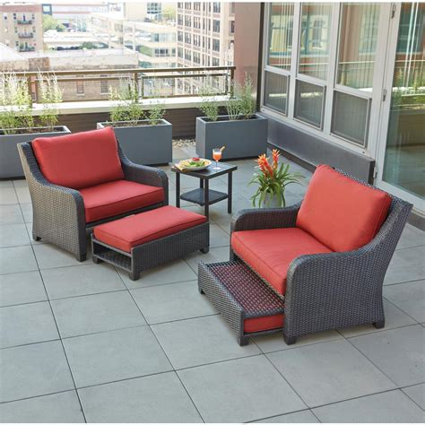 Hton Bay Sauntera 5 Piece Wicker Patio Seating Set With Wicker Seating Patio Furniture