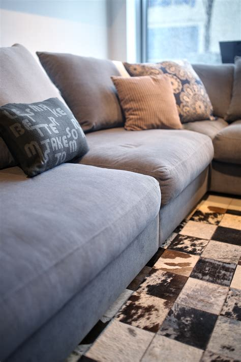 pillows for grey couch comfortable grey couch with pillows 183 free stock photo