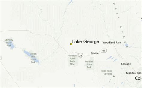lake george colorado map lake george weather station record historical weather
