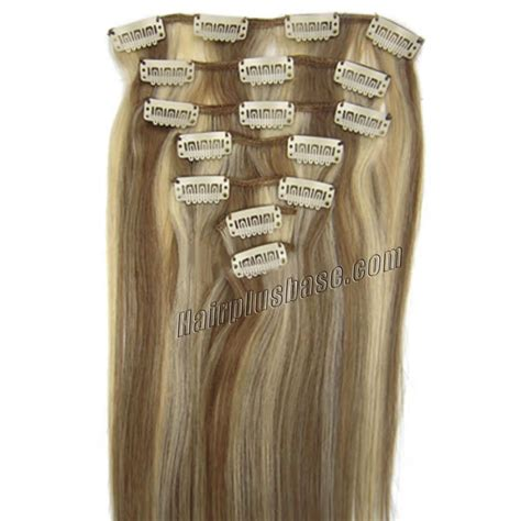 24 in human hair extensions 24 inch 12 613 clip in human hair extensions 8pcs