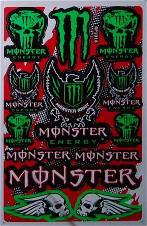 Monster Energy Army Sticker by 2x Green Monster Energy Drink Quot Monster Army Quot Sticker Sheet