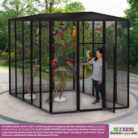 patio bird cages 96 quot h x 150 quot l x 90 quot d outdoor bird cage