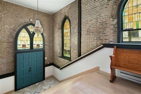 chicago church house church converted into an eclectic family home