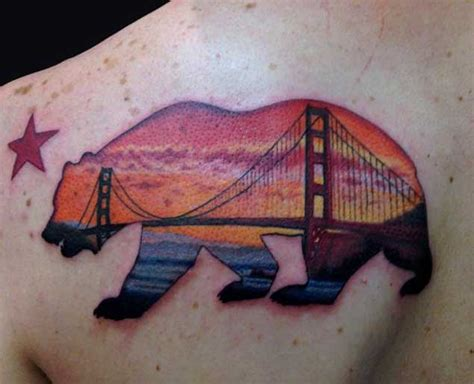 golden gate bridge tattoo 40 breathtaking state of california tattoos tattooblend