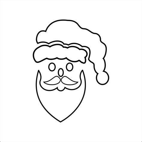 printable santa head father xmas stencil