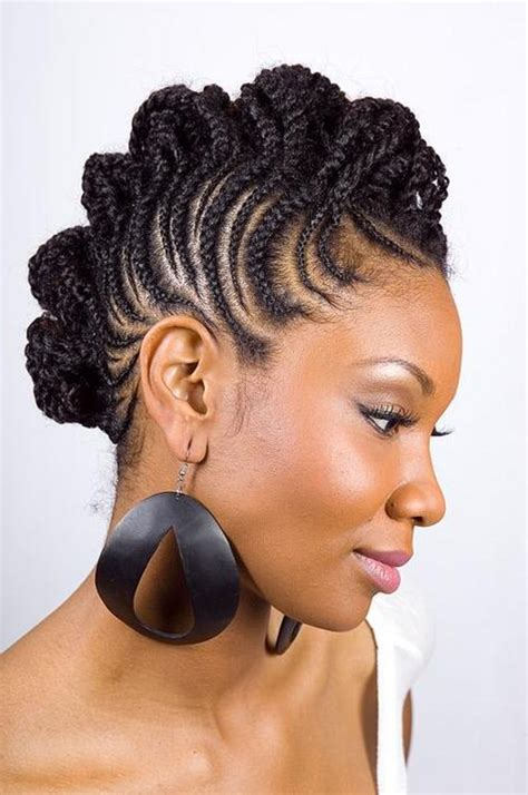 woman with braid hair 34 african american short hairstyles for black women