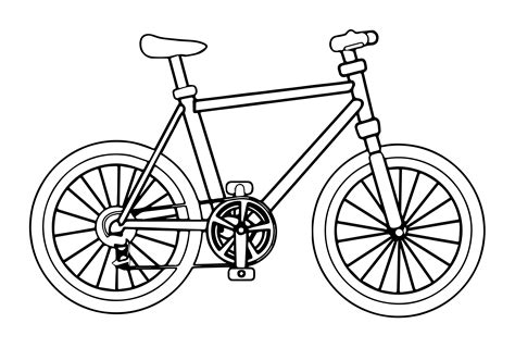 bicycle coloring pages by daniel free printables