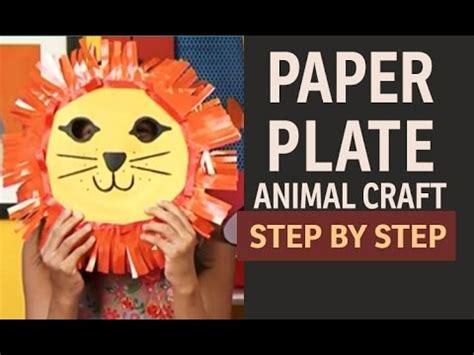 How To Make Paper Plates At Home - how to make paper plate masks quot paper and