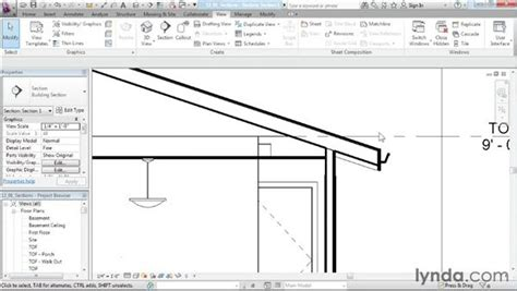revit tutorial section creating section views