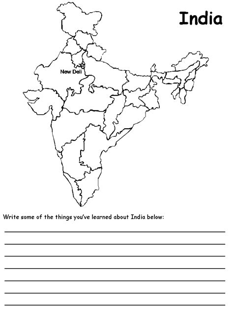 map of us states coloring page india map coloring page coloring home