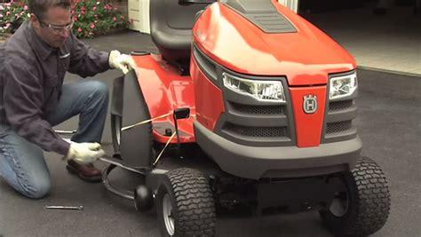 replace  blades   husqvarna riding mower