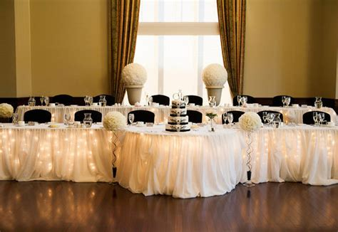 decorating the head table at a wedding reception ehow wedding reception decor ideas head tables place setting