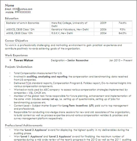 Resume Sles For Sas Analyst Analytics Professionals Free Resume Templates