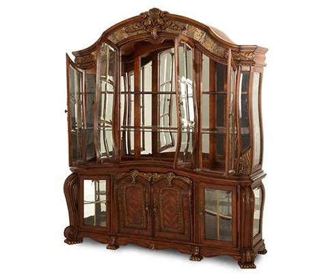 michael amini oppulente beveled glass doored china cabinet