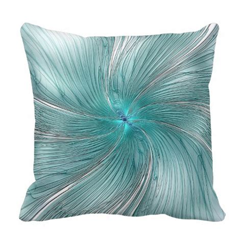 Flower Throw Pillow by Quot Turquoise String Flower Quot Throw Pillow Zazzle