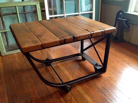 Reclaimed wood industrial coffee table by HammerHeadCreations