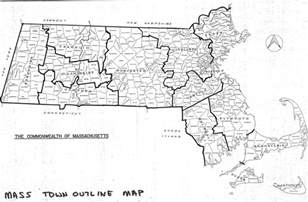 Massachusetts Map Towns by Massachusetts County Town Index List