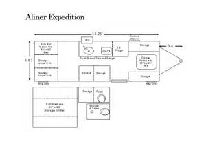 aliner expedition floor plan pop up campers