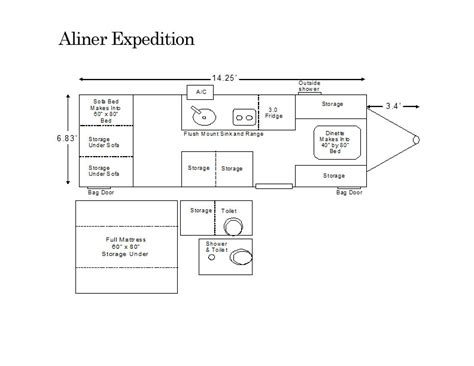 aliner floor plans aliner expedition floor plan pop up cers