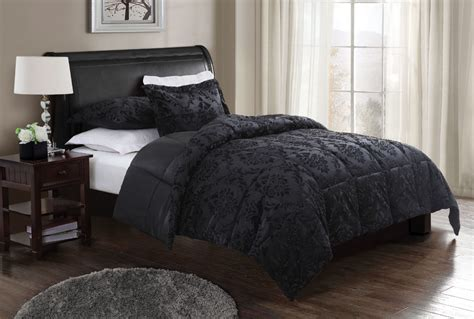 Black Comforter by Damask Embossed Comforter With 2 Shams Black 59 99 Decorative Bedding
