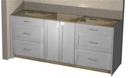 custom vanity cabinet layout using barker cabinets