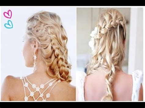 half up half down prom hairstyles youtube best easy half up half down hairstyles prom curly wedding